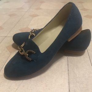 Shoedazzle Teal Loafers